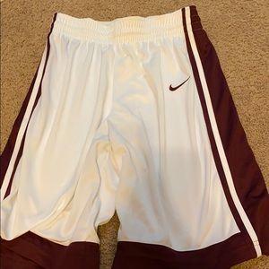 Males Nike basketball shorts